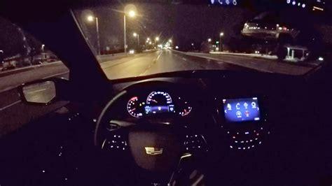 cadillac ats  coupe wr tv pov night drive youtube