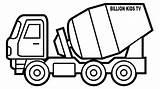 Truck Coloring Gambar Mewarnai Truk Construction Mobil Chevy Crane Drawing Molen Drawings Betoniarka Cement Mixer Template Semen Trucks Gmc Dump sketch template