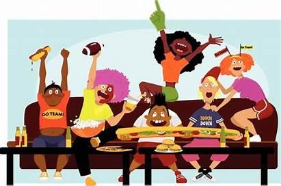 Cheering Football Watching Tv Friends Fans Vector