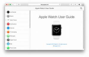 Apple Watch User Guide Now Available