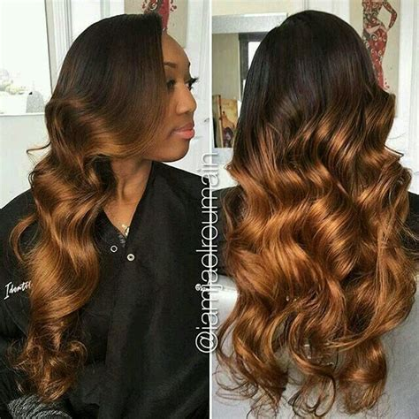 Ombre Weave Hairstyles by Ombr 233 Sew In Hairstyles In 2019 Wig Hairstyles Hair