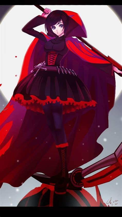 girls bangs black skies rwby ruby rwby wallpaper