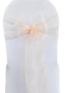 blush pink organza chair sashes bows ties wholesale