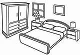 Coloring Bedroom Modern Sheet Children Coloringpagesfortoddlers Furniture Template Sketch Mentve Innen Drawings sketch template