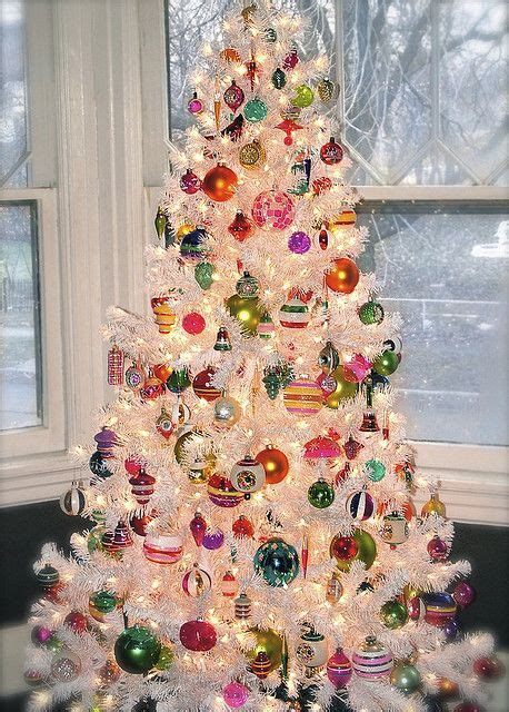 shiny bright christmas ideas shiny brite ornaments on a white tree tree inspiration white