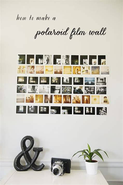how to hang polaroid lights how to make a polaroid photo wall the sweet light diy photo walls