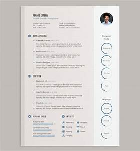 20 best free resume cv templates in ai indesign psd With curriculum vitae design template