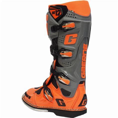 orange motocross boots new gaerne 2017 mx sg 12 limited edition dirt bike fluro