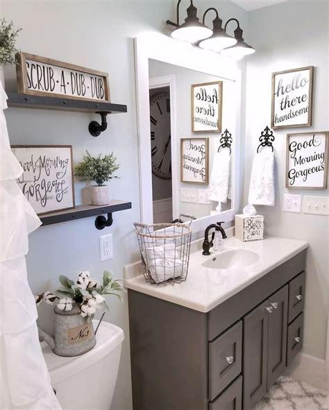 gorgeous  spectacular farmhouse bathroom decor ideas