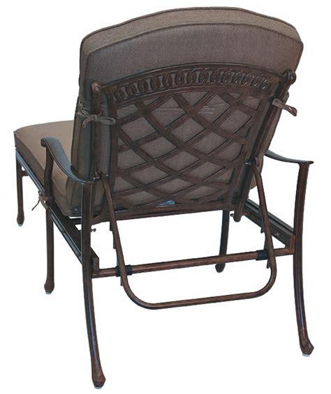 patio furniture chaise lounge cast aluminum sedona