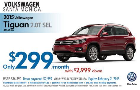 Vw Tiguan Lease Deals