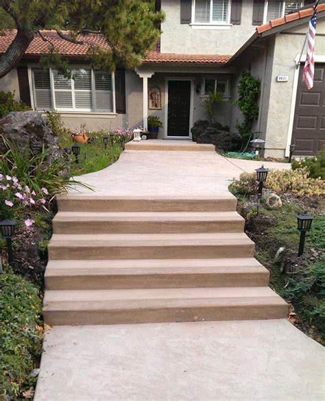 walkway steps sted concrete walkways sted concrete installation livermore pleasanton ca