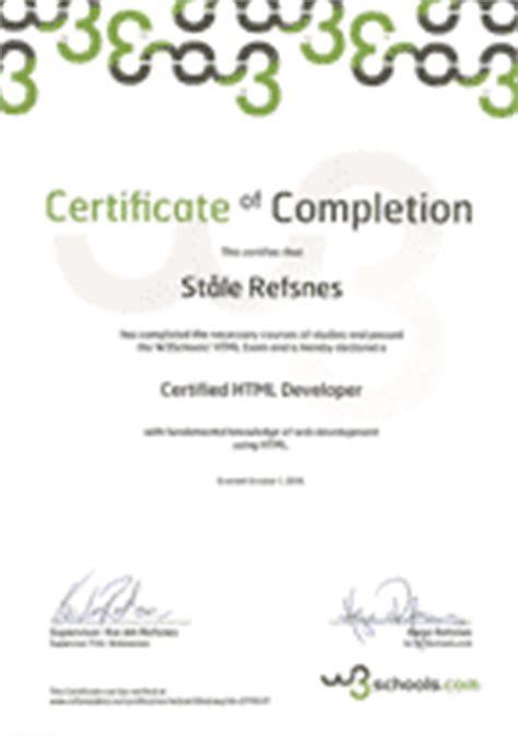 w3schools templates w3schools css certificate