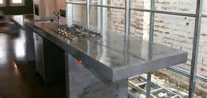kitchen island stainless steel top concrete by design