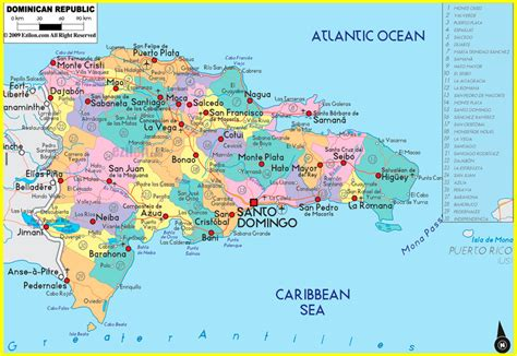 map   dominican republic   vidianicom maps