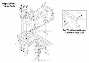 Bunton  Bobcat  Ryan 75 61 U0026quot  Deck Parts Diagram For Upper  Lower Frame With