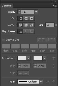 application de contours dans illustrator