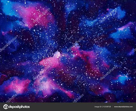 la galaxy colors watercolor painted space universe galaxy splash