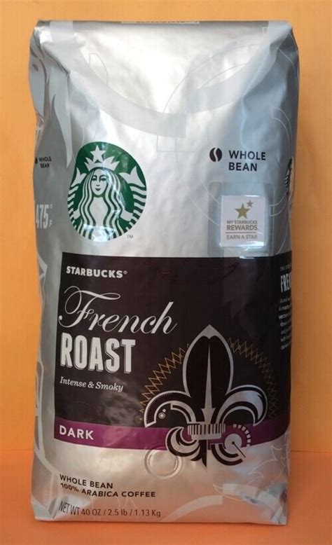 This is the combination of coffee beans that creates starbucks coffee. Big Size Starbucks FRENCH ROAST DARK Whole Bean Coffee 40 Oz/1.13kg | eBay