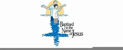 Baptism Clip Clipart Jesus Water Cliparts Boy