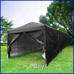 ft black canopy pop  tent large shelter garage car storage wedding party patio awnings