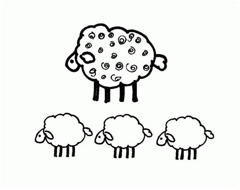 Sheep Outline Coloring Page