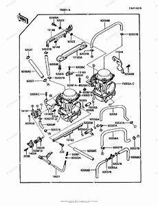 Kawasaki Motorcycle 1989 Oem Parts Diagram For Carburetor