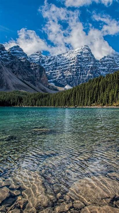 Nature Lake Mountains 4k Wallpapers Canada Clean