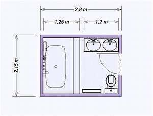 Plan Salle De Bain 4m2 : plan salle de bain 4m2 cheap plan pour salle dueau et ~ Nature-et-papiers.com Idées de Décoration
