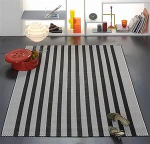 Made Com Tapis : tapis raye noir blanc ~ Teatrodelosmanantiales.com Idées de Décoration