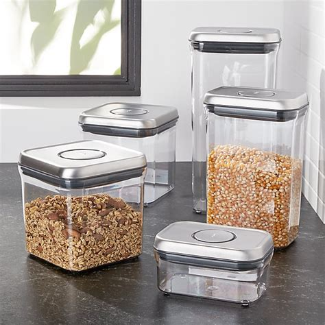 Oxo Spice Rack by Oxo 174 Steel Pop Containers Set Of 5 Crate And Barrel