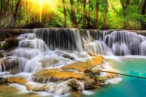 Waterfall river landscape nature waterfalls wallpaper ...