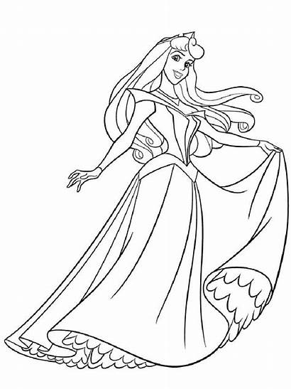 Pages Coloring Aurora Princess Printable