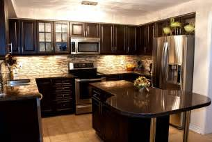 kitchen kitchen backsplash ideas with dark oak cabinets