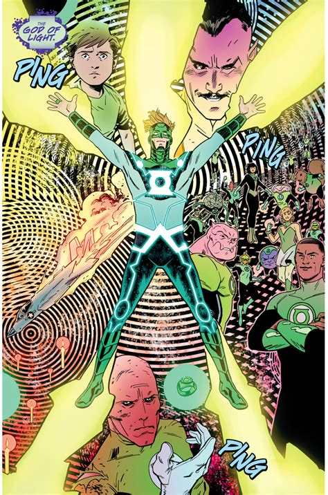 Green Lantern Becomes The God Of Light Comicnewbies