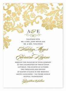 8 lovely lace wedding invitations ideas for romantic weddings With wedding paper divas gold invitations