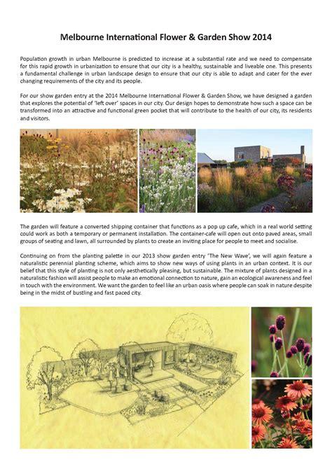 garden design brief ian barker gardens 2014 mifgs show garden left overs