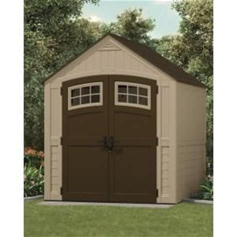 suncast sutton 7 ft 3 in x 7 ft 4 5 in resin storage shed home sheds and the o jays