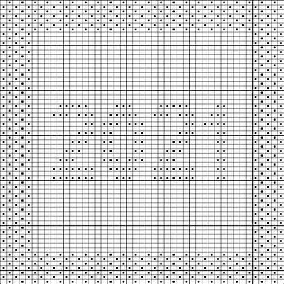 Knitting Pattern Afghan Dishcloth Square Chart Written