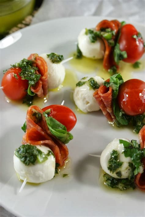 german canapes authentic suburban gourmet pepperoni caprese bites with