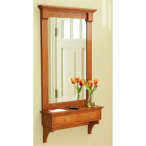 shelf  mirror woodworking plan  wood magazine