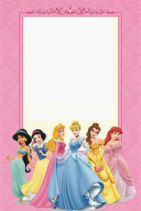 printable disney princess ticket invitation template