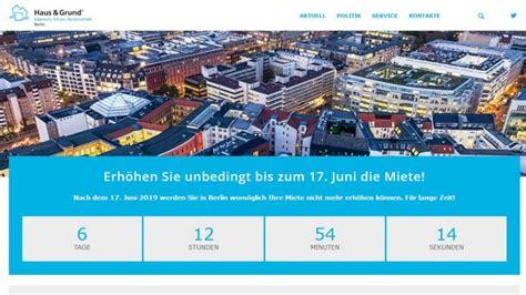 Haus Mieten Berlin Ein Tag by Reaktion Auf Mietendeckel Haus Grund Ruft Vermieter Zur
