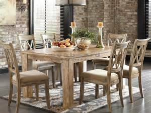casual dining room sets d540 mestler 7 pc light rustic dining set in myrtle