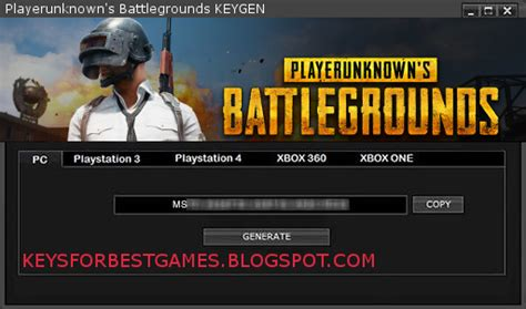You can customize it as well according to your preference. Playerunknown's Battlegrounds KEY GENERATOR SERIAL KEY FOR ...