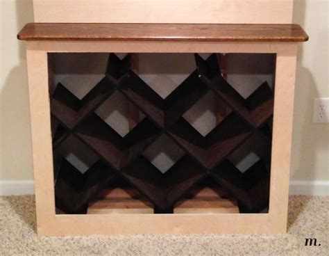 wine rack for inside cabinet 301 moved permanently
