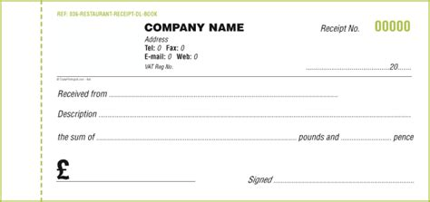 receipt books templates custom receipt books