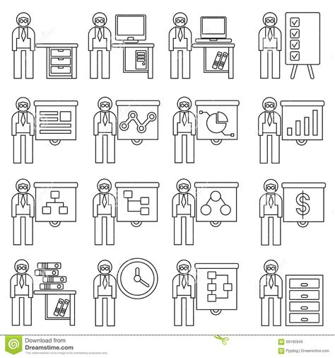 employ 233 de bureau illustration stock image 69195949