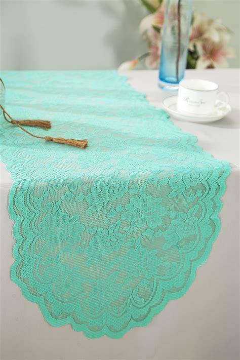 tiffany blue table runner tiffany blue aqua lace table runners wedding