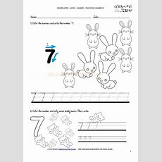 Tracing Numbers Worksheets  Number 7